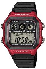 Casio Jam Tangan Pria AE-1300WH-4AVDF - Merah - Karet