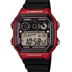 Casio Jam Tangan Pria AE1300WH-4A Merah