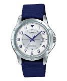 Spesifikasi Casio Jam Tangan Pria Analog Strap Canvas Mtp V008B 7B Biru Beserta Harganya