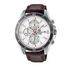 Situs Review Casio Jam Tangan Pria Edifice Genuine Leather Cokelat Efr 546L 7Avudf