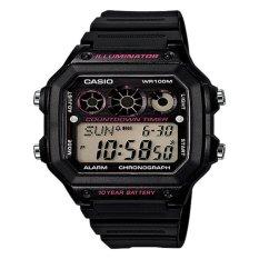 Jual Casio Jam Tangan Pria Original Digital Bonus Baterai 1300Wh 1A2 Black Dki Jakarta Murah