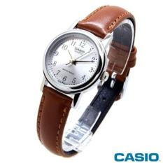 Casio Jam tangan wanita Original - Tali Kulit - LTP-1095E-7B - Coklat df8d061bbf