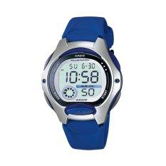 Casio Jam Tangan Wanita Original Terbaru Digital L-200-2A Blue/Silver