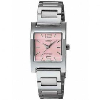 CASIO Jam Tangan Wanita Original Terbaru - Stainless Steel - LTP 1237D-4A Silver Pink