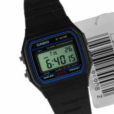 Beli Casio Klasik Digital Jam Tangan Pria Hitam Strap Karet F 91W 1D Kredit