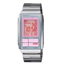 Casio LA-201W-4A Jam Tangan Wanita Stainless Steel Silver Pink