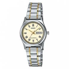 Casio Ladies Analog LTP-V006SG-9BUDF - Jam Tangan Wanita - Stainless Steel - Gold Silver
