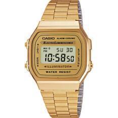 Promo Casio A168Wg 9Wdf Jam Tangan Wanita Digital Gold Kuning Murah