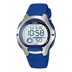 CASIO LW-200-2AVDF - Digital - Illuminator - Multifunction - Jam Tangan Unisex - Bahan Tali Resin - Biru