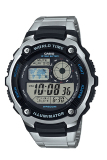 Review Casio Men S Ae 2100Wd Jam Tangan Pria Silver Stainless Steel Casio
