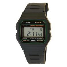Casio Men's Classic Chronograph Alarm Digital Watch -  F-91W-3SDG