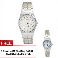 Harga Casio Men S Mq 336A 7B Free Casio Lq 333 7B Jam Tangan Couple Putih Stainless Steel Dki Jakarta