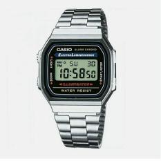 Beli Casio Original A168 Wa Digital Jam Tangan Wanita Stainless Steel Strap Silver Pake Kartu Kredit
