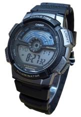 Casio Original - AE1100W1A - Jam Tangan Pria - Black - Rubber Strap