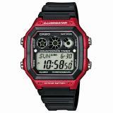 Spesifikasi Casio Original Ae1300W 4Avdf Digital Jam Tangan Pria Rubber Strap Hitam Merah Yang Bagus