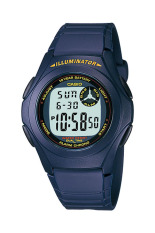 Casio Digital F-200W-2AU - Jam Tangan Pria - Blue - Resin band