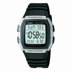 Spesifikasi Casio Original W96H 1A Digital Jam Tangan Unisex Pria Dan Wanita Rubber Strap Hitam Lengkap Dengan Harga