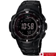 Casio Protrek Black TITAN Seri Terbatas-triple Sensor Ver.3-Tough Solar-multiband 6 Jam Tangan Pria Prw-3000yt-1jf (Jepang Impor)