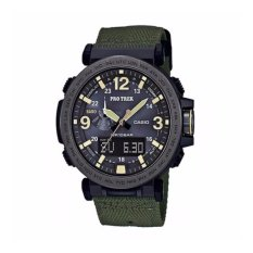 Beli Casio Protrek Prg 600Yb 3A Kain Band Green Watch Intl Di Tiongkok