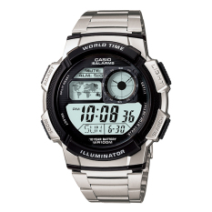 Casio Digital AE-1000WD-1AV - Jam Tangan Pria - Silver - Stainless Steel Band