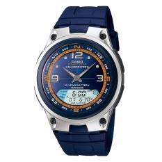 Jual Casio Standard Aw 82 2A Jam Tangan Pria Blue Silver Strap Rubber Lm Lengkap