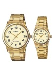 Cuci Gudang Casio Standard Couple Mtp Ltp V001G 9B Jam Tangan Couple Gold Stainless Steel