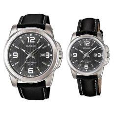 Casio Standard Jam Tangan Couple  - CP1314L- 8A - Strap Kulit - Hitam