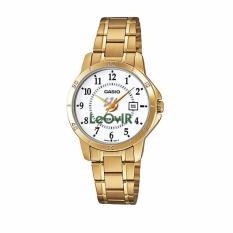 Casio Standard LTP-V004G-7B - Jam Tangan wanita - Gold - Strap Stainless Steel - LM