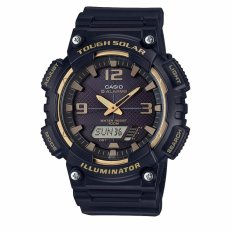 Casio Standard Men's Watch Black Resin Band AQ-S810W-1A3 100m World Time SOLAR-POWERED - intl