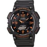 Diskon Casio Standard Men S Watch Black Resin Band Aq S810W 8A 100M World Time Solar Powered Intl