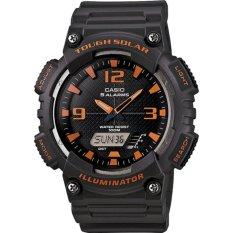 Jual Casio Standard Men S Watch Black Resin Band Aq S810W 8A 100M World Time Solar Powered Intl Casio Ori