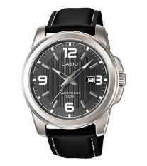 Casio Standard MTP-1314L-8A - Jam Tangan Pria - Black - Leather Band