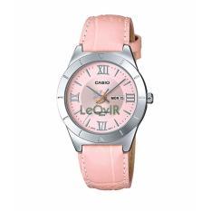 Harga Casio Standard Ltp 1410L 4Avdf Jam Tangan Wanita Pink Silver Strap Leather Lm Casio Terbaik
