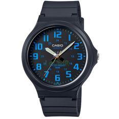 Harga Casio Standard Mw 240 2B Jam Tangan Pria Black Blue Strap Rubber Dan Spesifikasinya