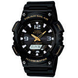 Casio Tough Solar Aq S810W 1Bv Analog Digital Men S Watch Black Gold Casio Diskon 50