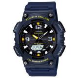 Jual Casio Tough Solar Aq S810W 2Av Analog Digital Men S Watch Dark Blue Yellow Antik