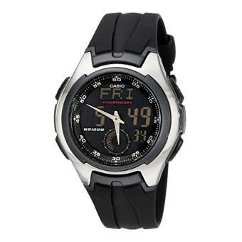 Casio Unisex AQ160W-1BV Ana-Digi Stainless Steel Watch
