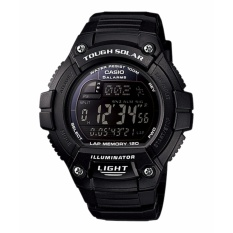 Casio W-S220-1BV Tough Solar Digital Watch Jam Tangan Pria - Resin Strap - Hitam