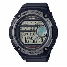 Casio Youth Digital AE-3000W-1AV - Jam Tangan Pria - Black Silver - Strap Resin - LM