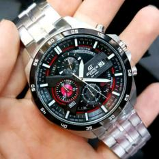 Casioo Edifice Jam Tangan Pria EFR 556D - 1A2VUDF Stainless Silver Dial BlackRed Series (Limited Edition)