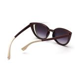 Ongkos Kirim Cat Eye Sunglasses Women Mirror Sun Glasses Greybrown Warna Desain Merek Di Hong Kong Sar Tiongkok