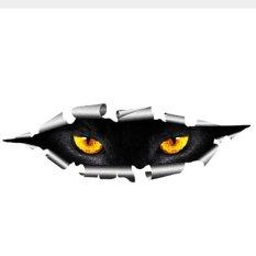 Kucing Mata Mengintip Lucu Anti-Air Stiker Kepala Mesin Sarung Spion Cermin Stiker 25*8 Cm-Internasional