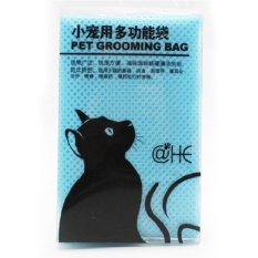 Harga Cat Grooming Bag Mesh Pet No Scratching Biting Restraint Bath Bags For Bathing Nail Trimming Injecting Examing Color Blue Intl Oem