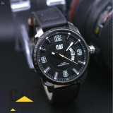 Jual Cat Jam Tangan Pria Casual Leather Strap Model Trendy Analog Grosir