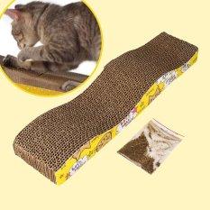 Harga Cat Kitten Karton Bergelombang Scratch Board Pad Berbekas Bed Mat Claws Perawatan Intl