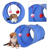 Promo Toko Cat Tunnel Toy Bermain Tabung With Tinkle Bell Plush Ball Biru