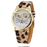 Harga Cat Watch Dengan Kacamata Fashion Wanita Quartz Watches Leopard Termahal