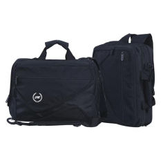Catenzo Convertible Laptop Bag Dolby Tas Laptop Ransel Bahu Hitam Asli