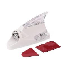 Cattree Mobil Kendaraan Wind Power LED Beam Shark Fin Antena Atap Peringatan Flash Light Lampu-Intl