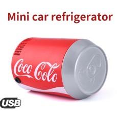 Cattree DC5V USB Mini Mobil Otomatis Coca Botol Coke Kaleng Kulkas Kulkas Cooler Pendinginan-Internasional